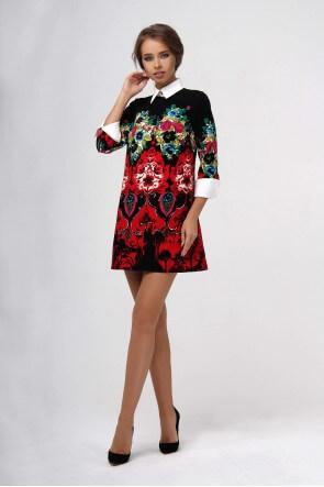 Платье мини с узором