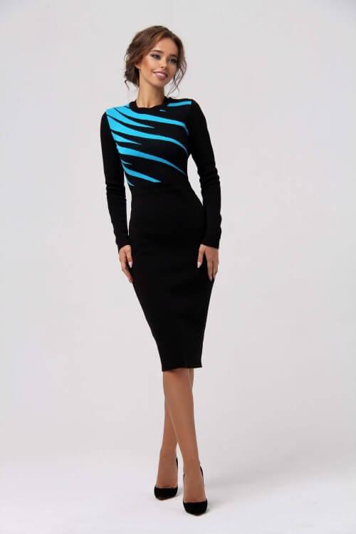 Платье футляр вязаное