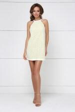 Платье мини гипюровое