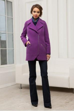 Пальто - трансформер фиолетовое