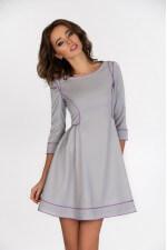 Платье расклешенное серое