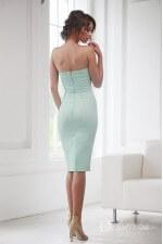 Платье бюстье мятное