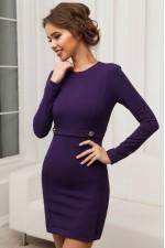 Платье мини фиолетовое