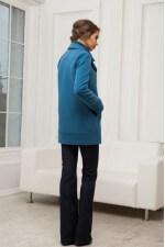 Пальто - трансформер бирюзовое