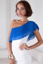 Платье сине-белое