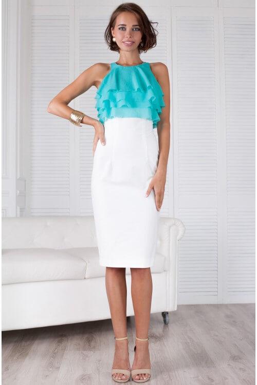Платье воланчик