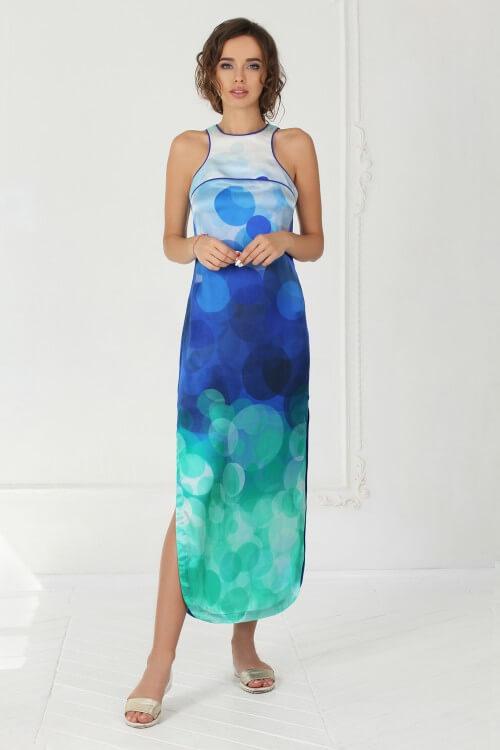 Платье шёлковое с принтом