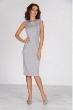 Платье футляр серое