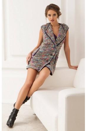 Платье-жилет шерстяное