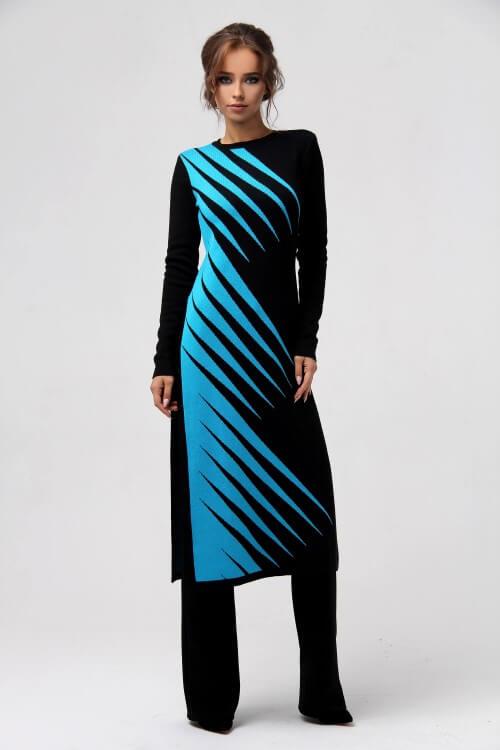 Платье-свитер миди