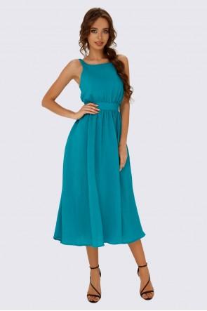 Платье изумрудное  с пышной юбкой