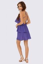 Сарафан с воланами фиолетовый