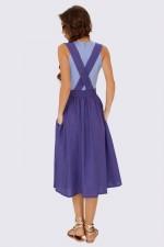Юбка фиолетовая на подтяжках