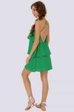 Сарафан с воланами зеленый