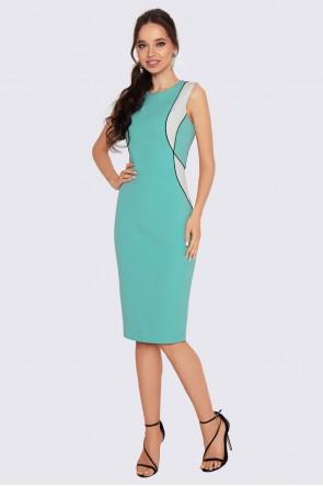 Платье футляр мятное