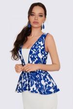 Платье гипюровое с баской