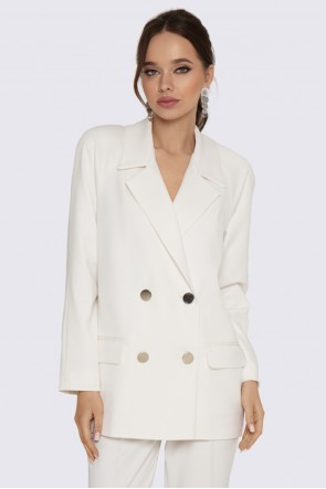 Пиджак молочно-белый