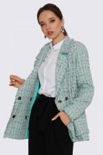 Пиджак мятный букле