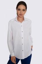 Рубашка белая свободная
