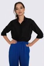 Рубашка шёлковая черная