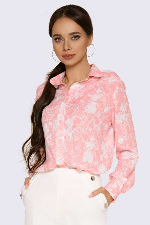 Рубашка нежно-розовая
