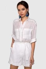 Рубашка льняная белая