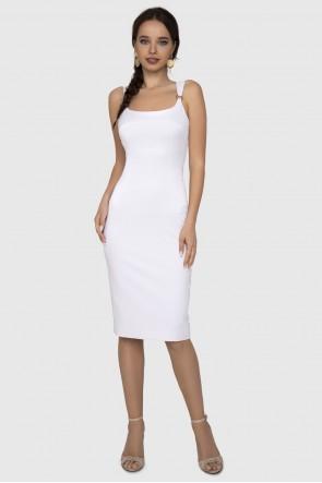 Платье белое футляр