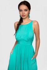 Платье ярко-зеленое с пышной юбкой