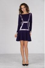 Платье расклешенное фиолетовое