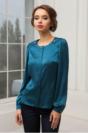 Блузка изумрудная