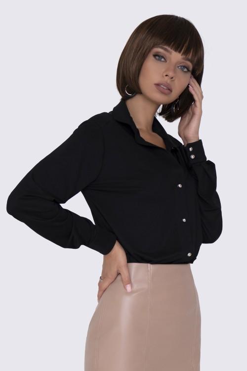 Рубашка черная трикотажная