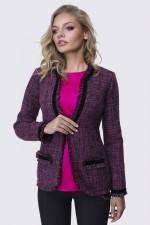 Жакет твидовый розовый