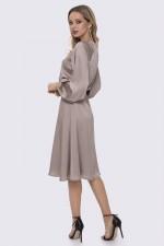 Платье шёлковое бежевое