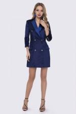 Платье-пиджак синее