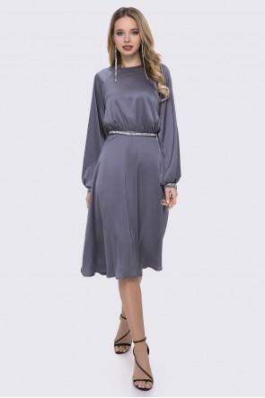 Платье шёлковое серое