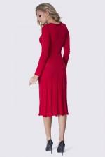 Платье вязаное красное