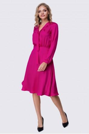 Платье ярко-розовое