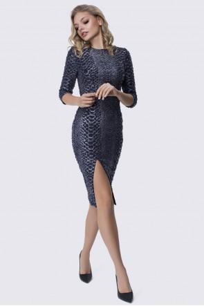 Платье змеиное с разрезом