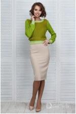 Платье с зеленым топом
