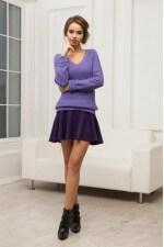 Юбка расклешенная фиолетовая