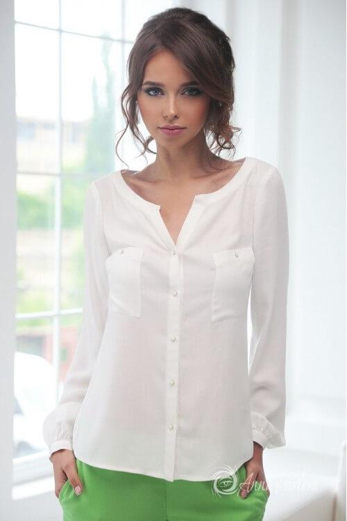 Блузка белая L15