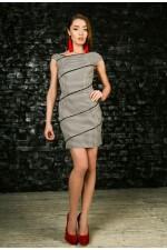 Платье черно-белое мини