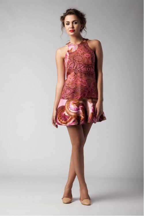 Платье шелк с открытой спиной