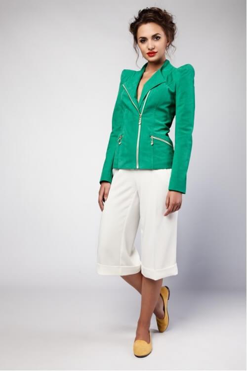 Куртка с искусственной замши