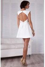 Платье белое солнце клёш