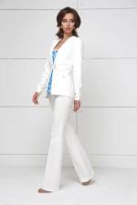 Летний белый костюм с брюками