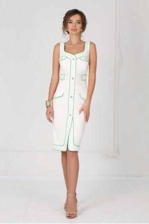 Платье футляр с пуговицами-мухами